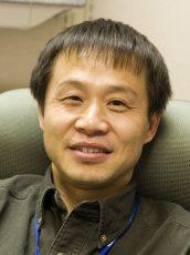 Yazhen Wang in his office